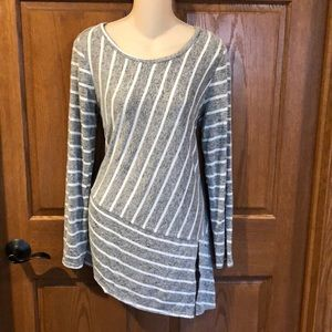 Maurices 24/7 Gray Tunic Asymmetrical Tunic Top, M